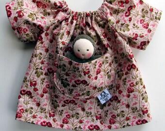 Waldorf Doll dress, Waldorf Doll, Waldorf Baby Dolls, germandolls, pocket baby, cloth doll, Steiner Waldorf Toy, natural doll, gift for girl