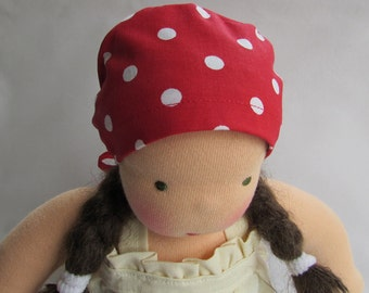 Waldorf doll hat, 10 - 12 inch bonnet,  Germandolls, head scarf, for cloth dolls, rag dolls, Steiner doll, waldorf toy, Waldorf baby doll