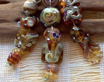 SRA Lampwork Glass Beads by CatalinaGlass  Designer set