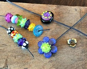 Wrap and Stack Bohemian Lampwork Glass Beads Only for Wirework Spring 2015 magazine bangles project - Made to order