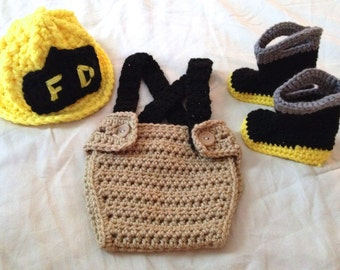 Crochet Patterns For Baby Frocks : Fireman costume Etsy