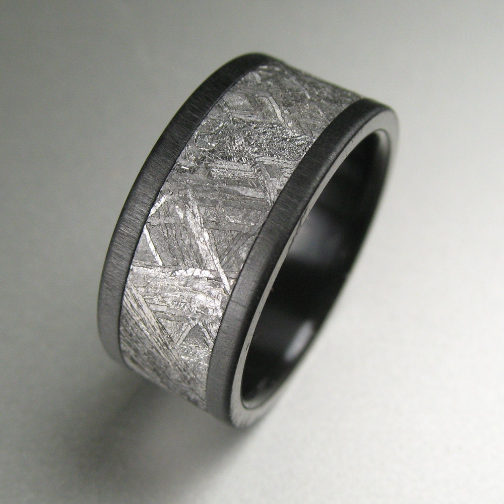 meteorite black zirconium s wedding band by spexton on