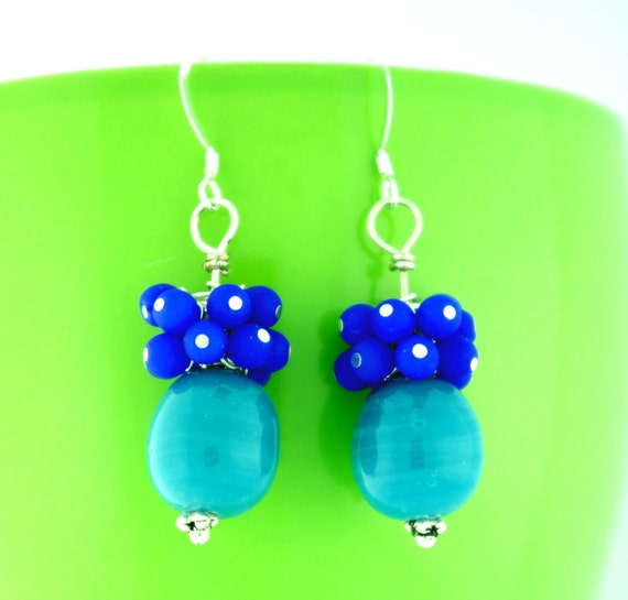 Marine Berry POP – Dangle Earrings by floatytoes
