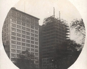 vintage photo Architectural Building in Progress New York City New York 1909