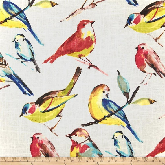 Birdwatcher summer curtains 50 inches wide 63 by gracielousgoodies