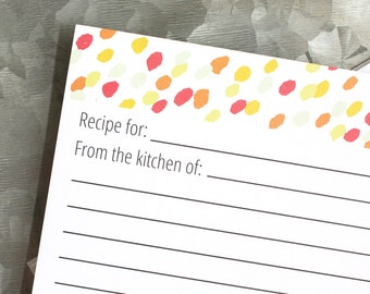 Speckle Recipe Cards