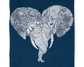 Punch Trunk Love, Elephant, Heart, Fleece Blanket, Printed in USA