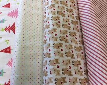Fabric By Riley Blake - 4 Prints - Fat Quarter Set - 9.95 Dollars