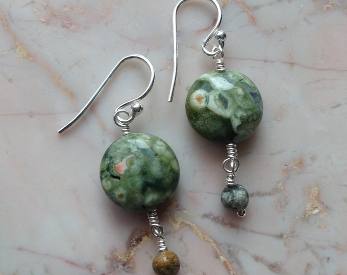 Rhyolite and Ocean Jasper Earrings