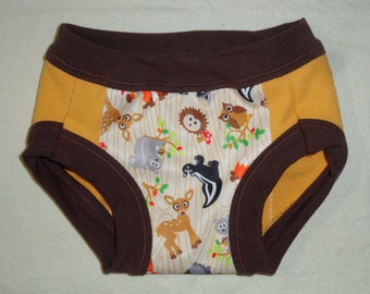 Toddler Training Pants with Woodland Animals, Dinosaurs, Owls, Robots or Little Birds size 2T-3T