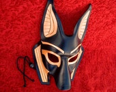 MADE TO ORDER Traditional Anubis Leather Mask... masquerade egyptian jackal costume mardi gras halloween burning man splicer