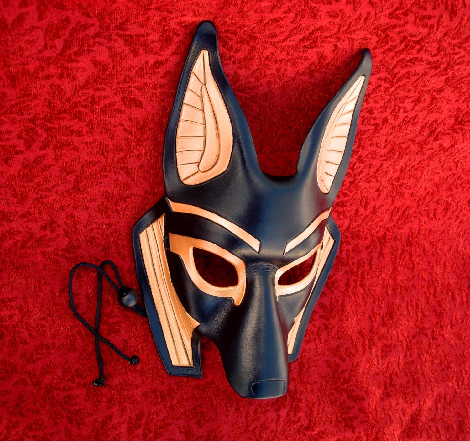 MADE TO ORDER Traditional Anubis Leather Mask... masquerade