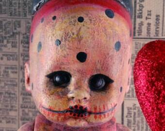Laurie Geller Handmade Re-Purposed Art Doll...BOJANGLES