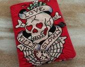 Love Kills Slowly - Graffiti Skull Journal - COMPOSITION Notebook Book Cover
