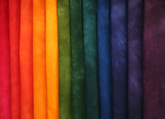 Jewel tones rainbow color wheel gradation hand dyed by - What are jewel tone colors ...