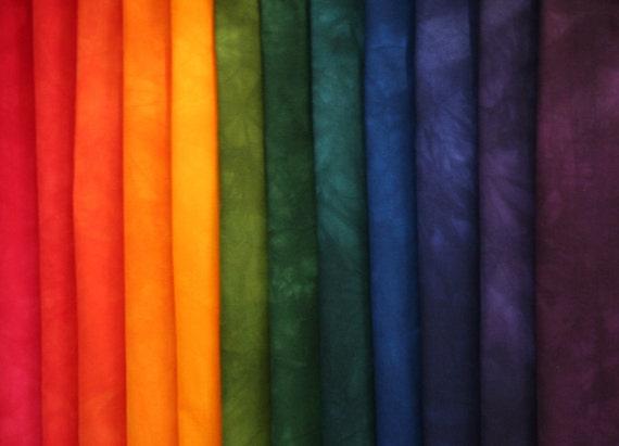 Jewel tones rainbow color wheel gradation hand dyed by - Jewel tones color wheel ...