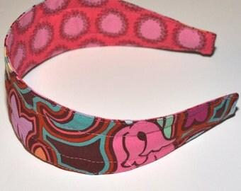 REVERSIBLE Soul Blossoms Chocolate Comfort Fit Fabric Headband