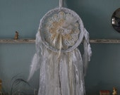 HOLD for Pam - Sweet Dreams - Abandoned Vintage Bits of Fabric, Crochet and Lace Shabby Chic Dreamcatcher