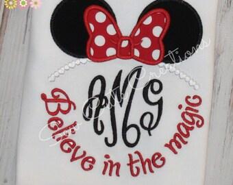 Princess Mouse Ears shirt, Girl Mouse Ears Shirt, Mouse Girl Shirt, Monogram Mouse Ears shirt, Monogram Girl Mouse shirt, sew cute creations