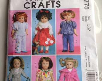 McCall's Pattern M5775, Doll Clothes Patterns, McCall's Pattern