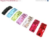 ON SALE Baby Hair Clip - Newborn Hair Bows - Toddler - No-Slip, Sequin Baby Snap Clip Covers....One of each color