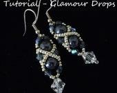 Seed Bead Earring Tutorial, Earring Tutorial, Easy Beading Tutorial, Glamour Drop Earrings