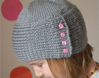 PDF Hat Knitting Pattern, The Woudman Hat Sized Baby to Adult