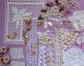 Wedding/Bridal theme Crazy Quilting Embellishments set