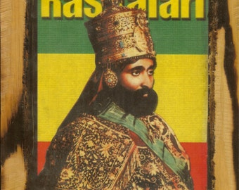 Emperor Haile Selassie - Wooden Plaque