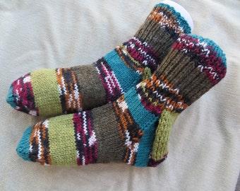 House Socks, Bed socks, Big & Tall, size 12, size 13 boot socks, non-binding cuff, swollen feet,