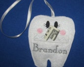 Tooth Fairy Pouch and Tea Light Cover GIFT SET with Personalization!