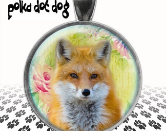 Fox Trot -- Fox Large Glass-Covered Pendant