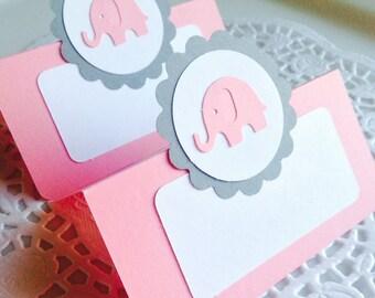 Elephant Blank Place Cards (Set of 12)