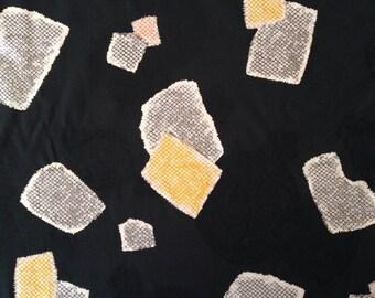 HALF YARD Kobayashi Komachi black jacquard Temari Japanese cotton fabric