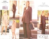 Maternity Business Attire designer Lauren Sara Jacket dress top pants sewing pattern Vogue 2391 Sz 12 to 16