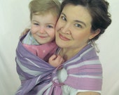 Little Frog Sugilite Ring Sling Baby Carrier Wrap Conversion - WCRS -  Cotton Twill Weave Pleated Shoulder - DVD included