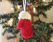 Woolen Mitten Ornament- Needle Felted Mitten