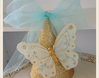 Cinderella Shabby Chic Butterfly Party Hat for Birthday Party Birthday Decoration