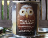 Needle felting kit...'Owl in a can'