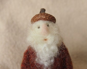 needle felted gnome...'Fritz'