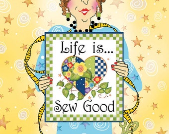 Greeting Card - Life is Sew Good
