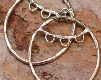 Earring Findings, Sterling Silver Earring Hoops, 36mm Hoop Components, 305