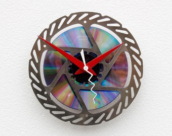 Recycled Bike Brake Disk Clock