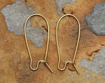 Antique Gold Small Kidney Earwires   11 x 25.4 Pick Your Own Bulk Price