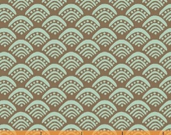 Windham Fabrics Spa Fan Shell in Brown by Rosemarie Lavin 31397-5 cotton fabric FAT QUARTER FQ