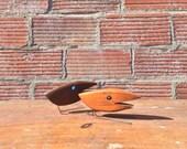 1960s Vintage Mid Century Wooden Bird Figurines Pair