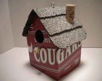 Washington Cougars License Plate Birdhouse