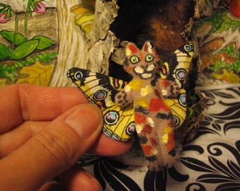 Cat Doll Tiny Mini Celestial Calico Totally Flealess Too Cute For Your Plush Cuteness Collection Made By Tessimal