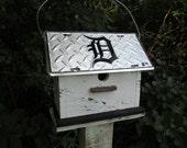 Detroit/Tigers/Baseball/License Plate/Birdhouse/Primitive/MLB/Fan/Sports/Summer/Uniforms