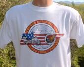 vintage 90s tee HONDA motorcycles gold wing biker smoky mountains t-shirt Large Medium white